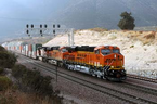 BNSF operated its first train on the new track through Cajon Pass on November 3