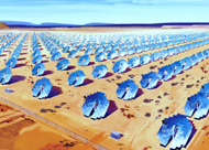 Rendering of Sun Catcher Array by Stirling Energy Systems