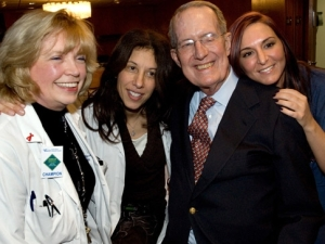 Franklin Lloyd and Dr Marcia Epstein (center), with nurse and therapist