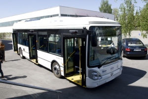 Proton-Skoda Pure Electric Fuel-Cell-battery-Ultracapacitor Bus