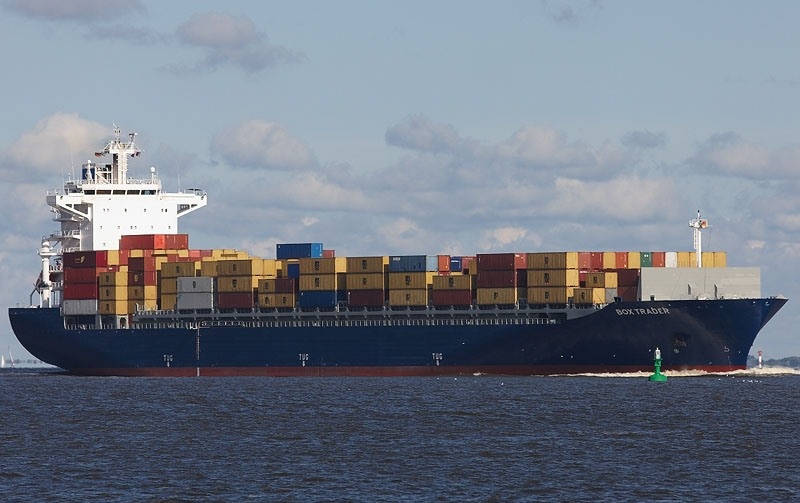 Box Trader -- a container ship, courtesy of Box Ships Inc