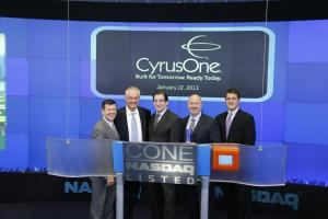 CyrusOne management rings bell at Nasdaq. Photo courtesy CyrusOne.com