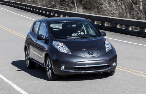 Photo of Nissan Leaf S courtesy of evworld.com